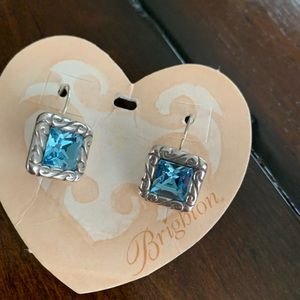 New Brighten Aquamarine Silver Earrings
